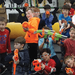 Nerf war kids pirthday party